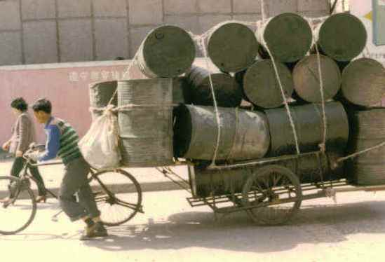 Drum handling in Asia in the 1980's